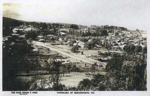 Panorama of Beechworth, c1910