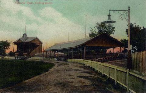 Victoria Park, Collingwood Football Ground, c1910