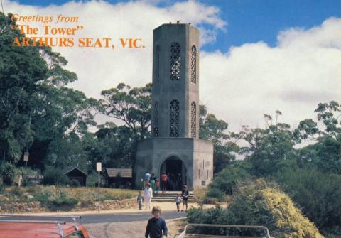 The tower, Arthurs Seat, Victoria.  This tower, on the summit of 1000 ft high Ar
