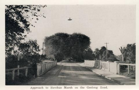 Approach to Bacchus Marsh on the Geelong Road
