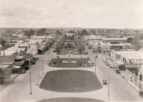 Main Street from the water tower, Bairnsdale