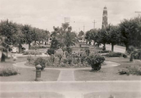 The gardens from band rotunda, Bairnsdale