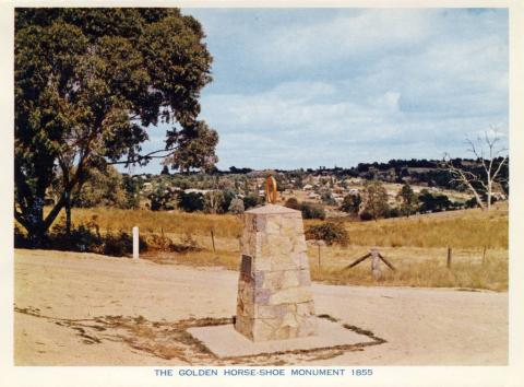 The Golden Horseshoe Monument (1855), Beechworth
