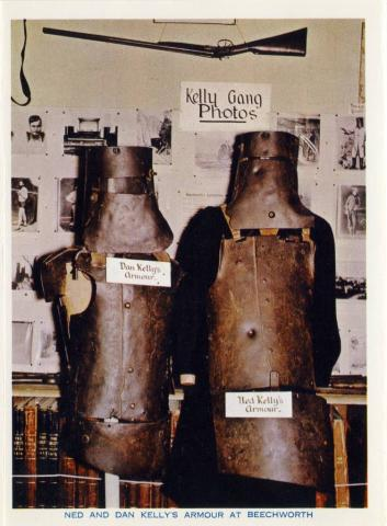 Ned and Dan Kelly's armour at Beechworth