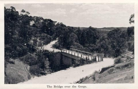 The bridge over the gorge, Beechworth