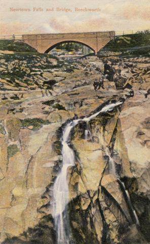Newtown Falls and Bridge, Beechworth, 1909