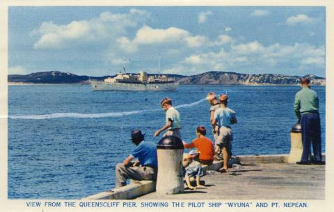 View from the Queenscliff pier, 1964