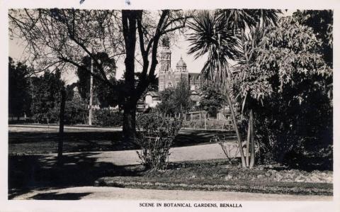 Scene in botanical gardens, Benalla