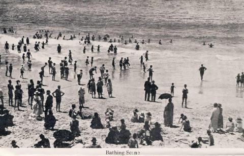 Bathing scene, Brighton