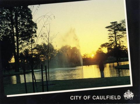 Caulfield Park at sunset