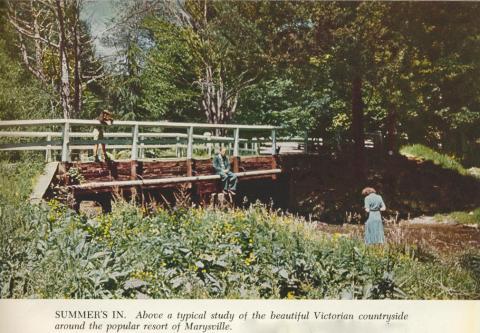 Countryside around the popular resort of Marysville, 1954