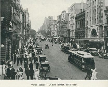 The block, Collins Street Melbourne, 1918