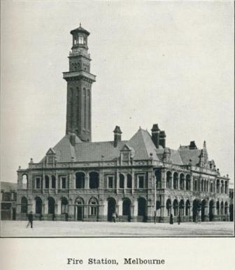 Fire Station, Melbourne, 1918