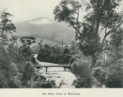 The River Yarra at Warburton, 1918