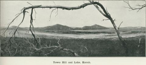 Tower Hill and Lake, Koroit, 1918