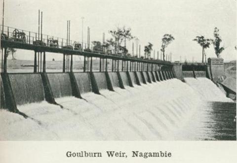 Goulburn Weir, Nagambie, 1918
