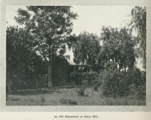 An old homestead at Swan Hill, 1918