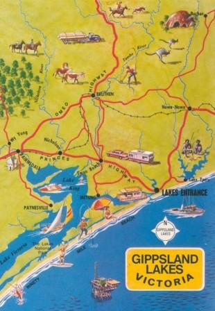 Map of Gippsland Lakes