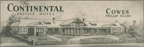 The Continental Private Hotel, Cowes, 1947-48