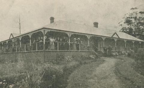 Dewrang Boarding House, Sassafras, 1918-20