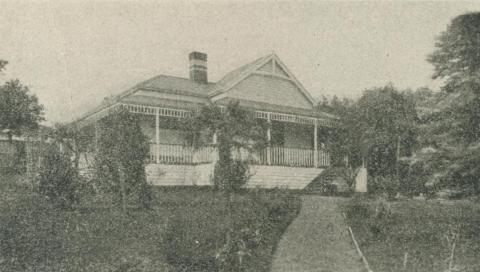 Cliff House, Healesville, 1918-20