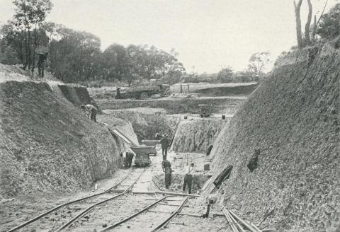 Clay Deposit at Vermont, which provides raw materials for Brunswick Works, 1927