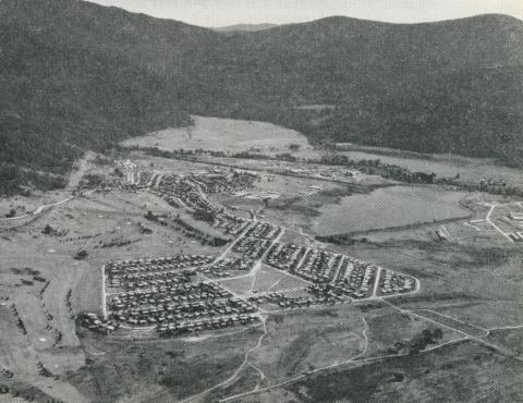 Mount Beauty township and pondage, 1964