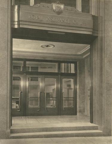 Royal Insurance Building, the foyer, Melbourne, 1940