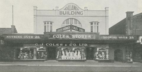 Coles Store, 465 Burke Road, Camberwell, 1933