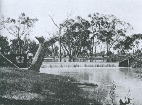 Katandra weir, Broken Creek, Katandra, 1903