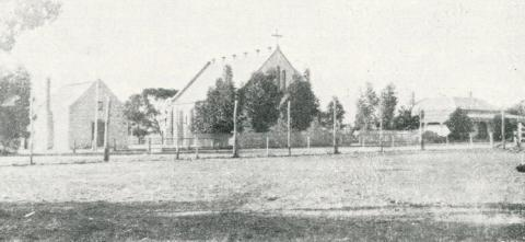 School, Church and Teacher's Residence, Pella, 1924