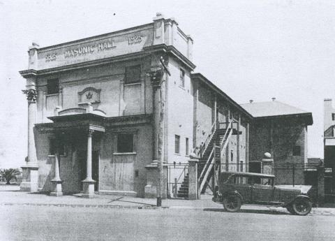 The Masonic Hall at Newport, 1934