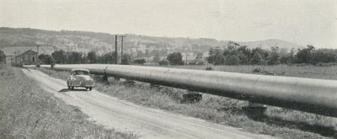 The pipe line from Latrobe River to the Maryvale Mill, 1958