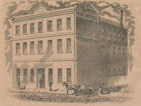Griffith's boot factory, Richmond, 1890