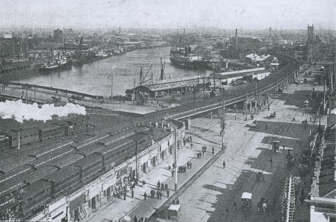 Queen and Prince's Wharves, Melbourne, 1909