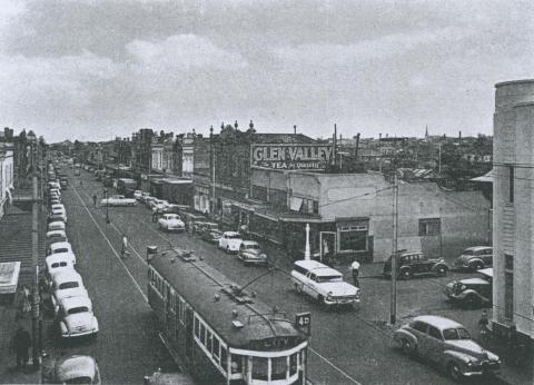 Carlisle Street, St Kilda, 1957