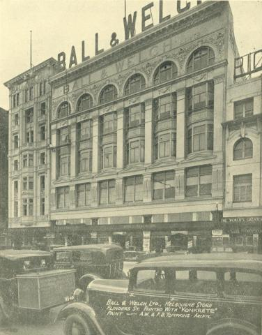 Ball & Welch department store, North Melbourne, 1938