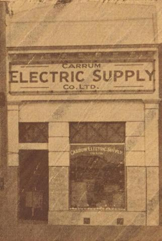 The Carrum Electric Supply Co, 1938