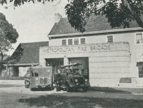 Metropolitan Fire Brigade, Box Hill, 1956