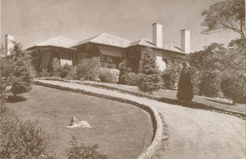 The Righi House, Eaglemont, 1937