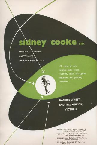 Sidney Cook Manufacturing, East Brunswick, 1957
