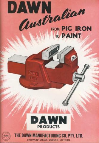 The Dawn Manufacturing Co, Coburg, 1957