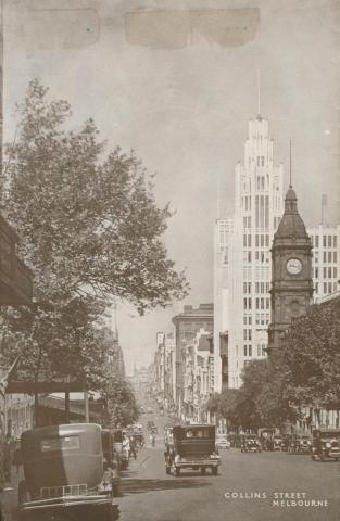 Collins Street, Melbourne, 1934
