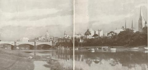 Melbourne from across River Yarra, 1934