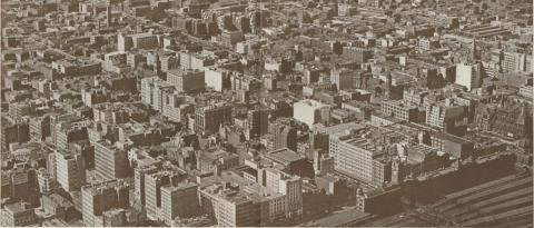 Section of Melbourne from the air, 1934