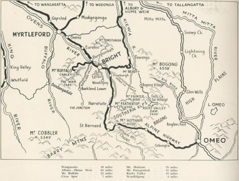 Map of Bright and surrounding district, c1960