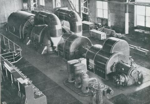 50,000 kilowatt generator, Yallourn power statiion, 1954