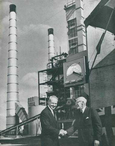 Opening of the Geelong power station, 1954