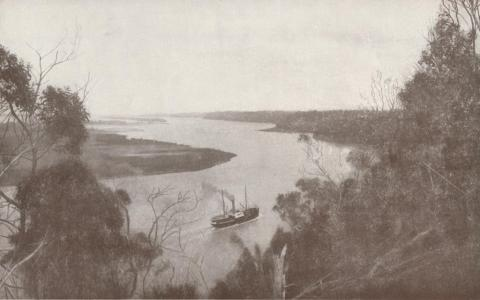 View from Jemmy's Point looking west towards Metung, 1934