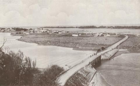 North Arm and Bridge, Lakes Entrance, 1934